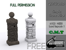 .::QUTWORLD .::Simple Stone Pillar::.FP_FREE GIFT