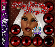 Omega Eye Collection - Glittery Red