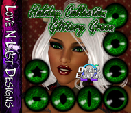 Omega Eye Collection - Glittery Green