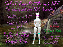 NaS-T Pony Bot Animesh NPC Animated Rigged mesh Greeter