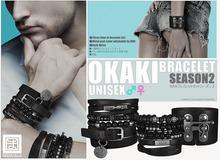 [MANDALA]OKAKI Bracelet season2/BLACK