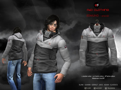 A&D Clothing - Jacket -Edmund- Grey-Charcoal