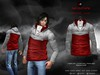A&D Clothing - Jacket -Edmund- Grey-Red