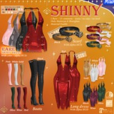 MIWAS / Shinny Long dress #Red - Mait