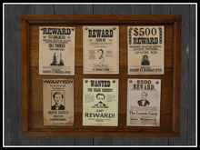 RE Old West Wanted Poster Board