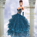 ::TD:: Princess Santa Gown with Appliers ~ Blue