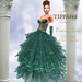::TD:: Princess Santa Gown with Appliers ~ Green