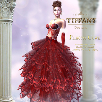 ::TD:: Princess Santa Gown with Appliers ~ Red