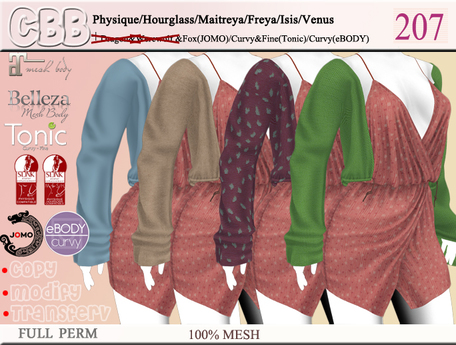 CBB-207 Full Perm Model  Top ONLY