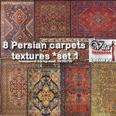 8 Persian carpets FP set1