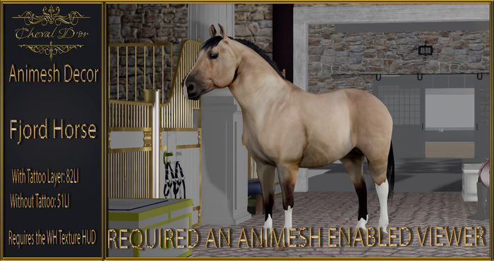 Cheval D'or - Animesh Decor -  Fjord Horse.