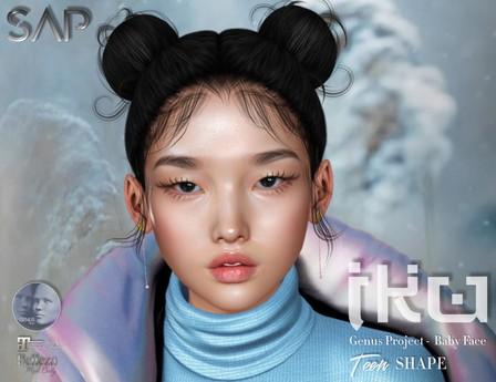 Sap ~ Iku Shape (Teen) - Genus Project Baby Face Bento Head