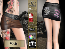 V-Twins Biker Clothes - Individual Items Mesh Skirt - Rebellion Collection (Slink Belleza & Maitreya)