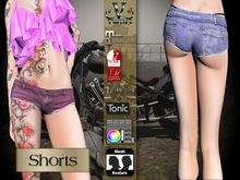 V-Twins Biker Clothes - Individual Items Mesh Skirt - Entourage Color Collection (Slink Belleza & Maitreya)