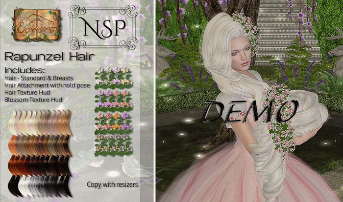 NSP Rapunzel Hair - DEMO pkg hud