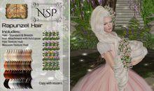 NSP Rapunzel Hair - Naturals Loaded pkg hud