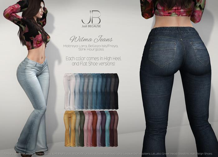 *Just BECAUSE* Wilma Jeans - FatPack - Maitreya, Belleza, Slink