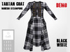 RUSH Tartan COAT Modern Steampunk BLACK WHITE DEMO Pack