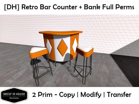 Retro Bank Design.Second Life Marketplace Dh Retro Bar Counter Bank Full Perms