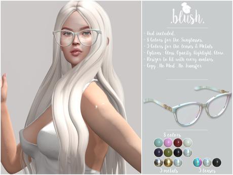 . BLUSH . Glasses Julia - 8 Colors - Mesh