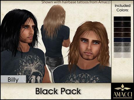 Amacci Hair ~ Billy - Black Pack