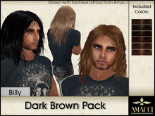 Amacci Hair ~ Billy - Dark Brown Pack