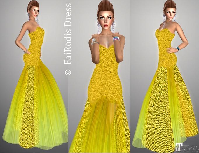 FaiRodis Sun Queen dress fitmesh Maitreya+flexi skirt pack