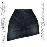 RUST REPUBLIC [OOOPSY!] Skirt Dark Blue