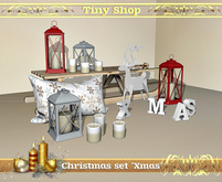 "Christmas set ""Xmas"" (8 object), 100% mesh (full perm)."