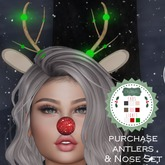 ChicModa // Rudy Antlers & Nose (Add Me)