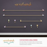 {moss&mink} Curtain Rods & Wall Hooks