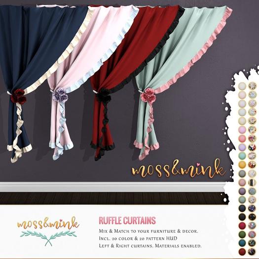 {moss&mink} Ruffle curtains