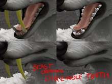 :Beast Creations: - direwolf teeth