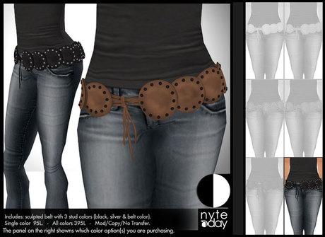 Nyte'N'Day - Ginger Belt - Black