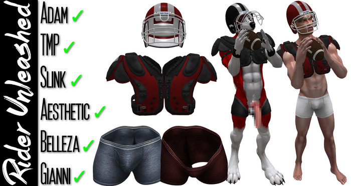 RU - Mesh American Football Gear (ADD) (v3.1 Unpacker)