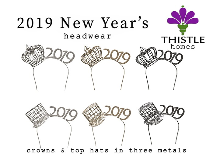 Thistle Homes - 2019 New Year Crown & Top Hat - original mesh