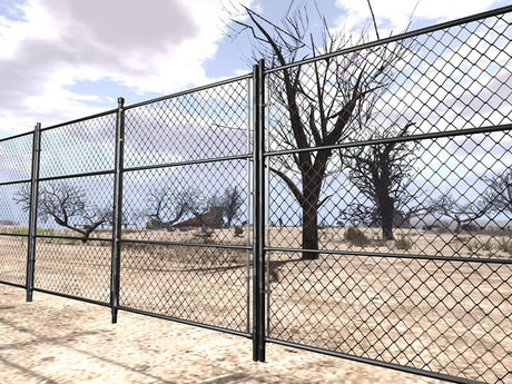 Wire Fence  - Mesh low prim