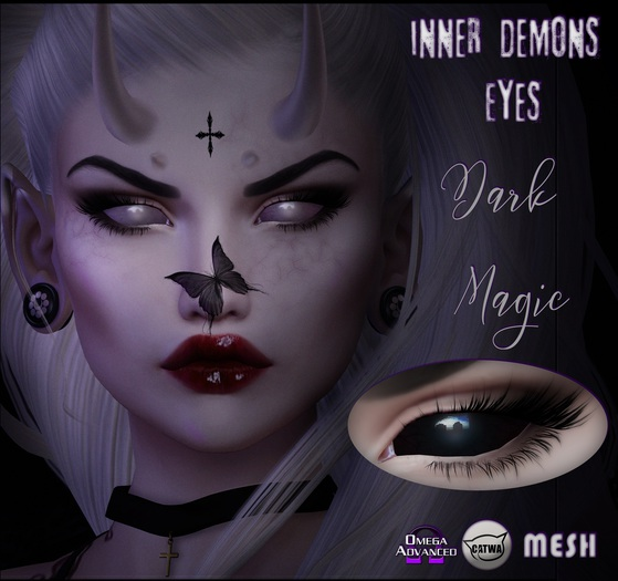 -bus- Inner Demons Eyes *Black Magic* {Catwa-Mesh-Omega}