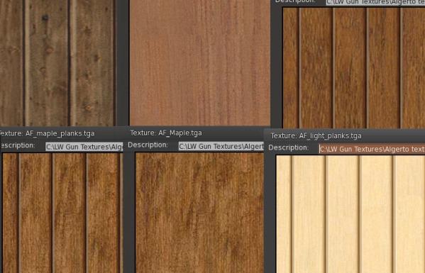 Six High Wood Textures
