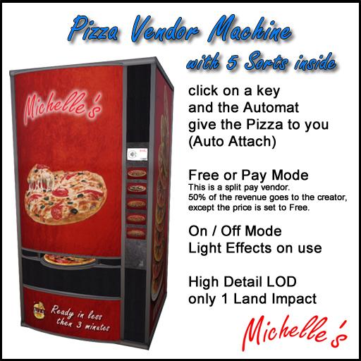 Michelle's Pizza Vendor Machine