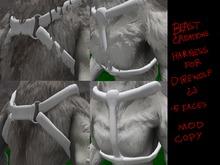 :Beast Creations: - direwolf dog harness