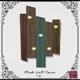 The Jewel Garden - Plank Wall Decor