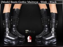 [ Mesh ] Boots Gothic Maitreya Slink - Black