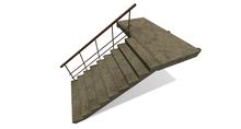 Concrete stairs Mesh