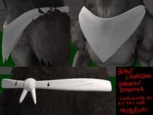 :Beast Creations: - direwolf bandana