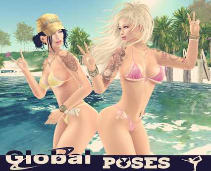 .:GB POSES:. *POSE 187* Girls Friends Beach