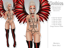 {Gothica} Demonic Outfit & Boots DEMOS