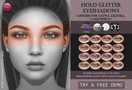 Izzie's - DEMO Holo Glitter Eyeshadows