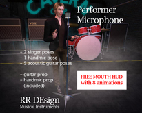 Performer Microphone + Free Mouth Control HUD