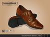 Double Monk Shoes - Tan